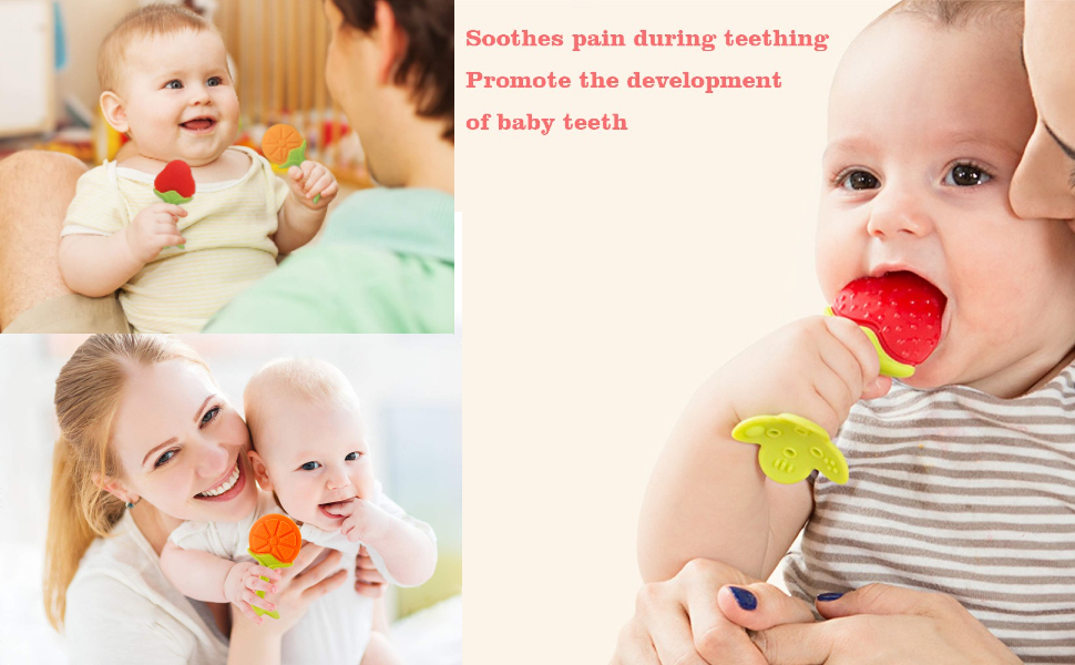 BabyGo Silicone Teethers for Newborn
