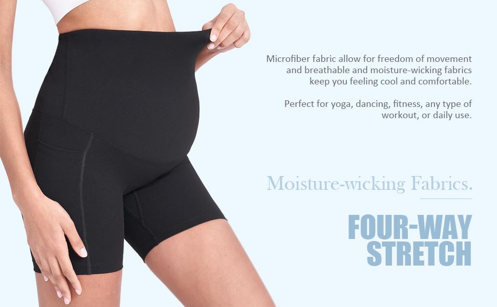 maternity biker shorts for women