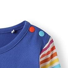 organic cotton long sleeve baby toddler girl dress spring summer autumn rainbow pockets applique