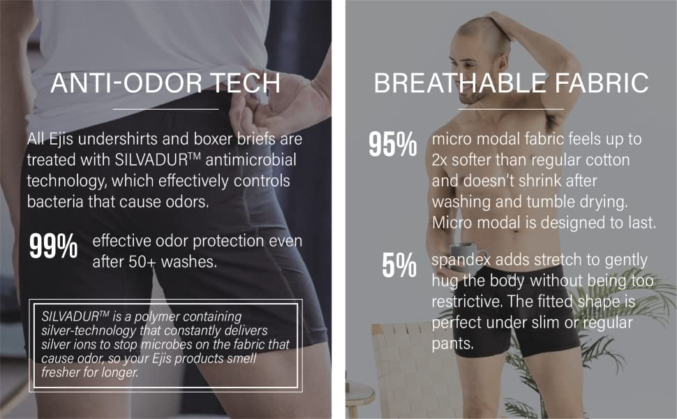 anti odor tech silverdur control bacteria effective softer stretch fitted shape slim pants soft