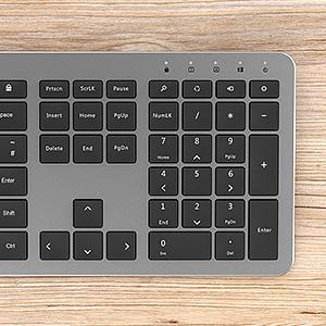 Full size wireless keyboard