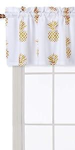 pineapple kitchen curtain