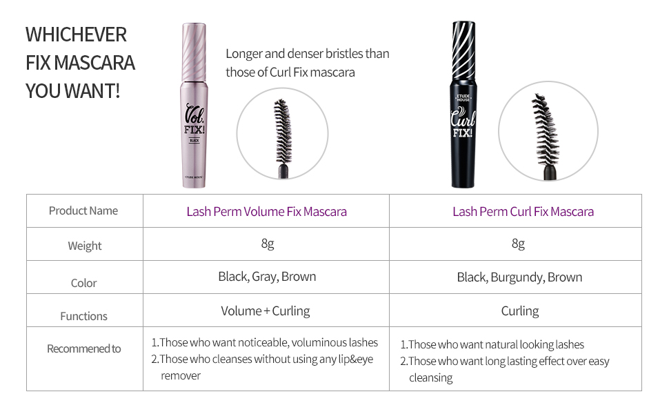 Whichever Fix Mascara You Want!