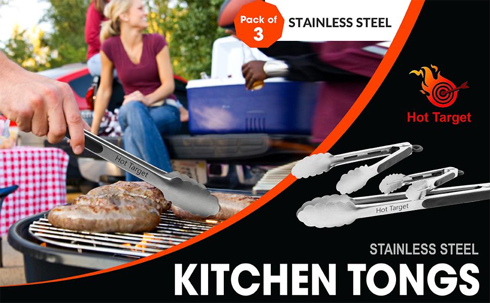 hot target stainless steel tongs