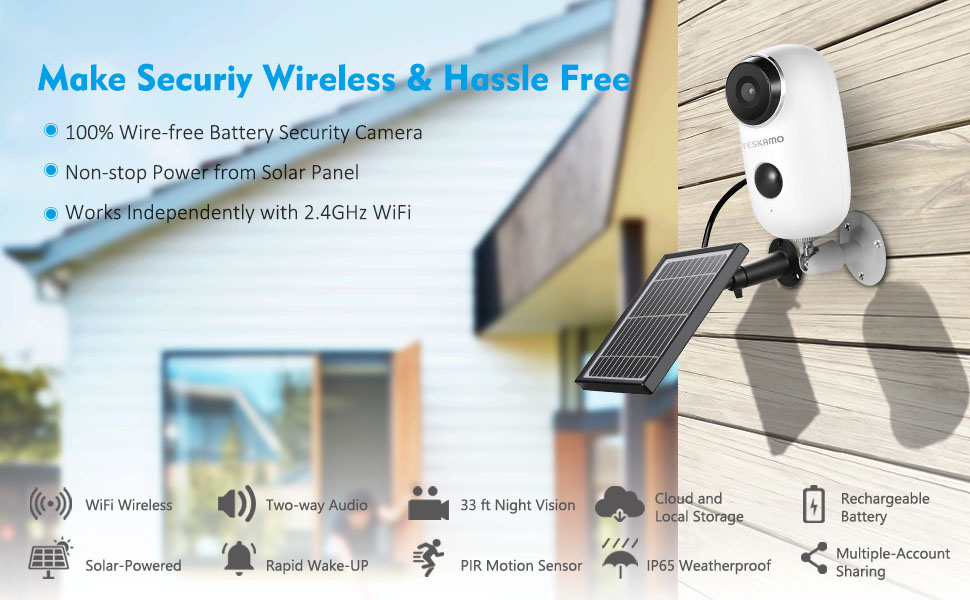 battery security camera wireless