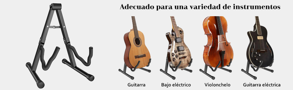 MARTISAN Soporte de guitarra Universal Plegable para Guitarra ...
