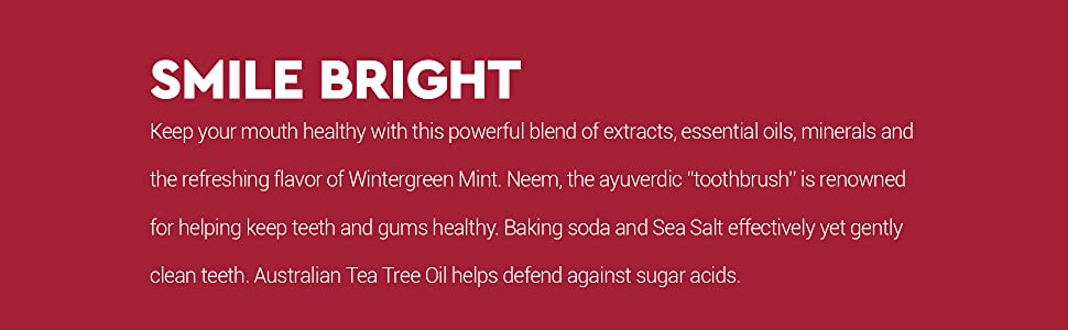 Desert Essence Toothpaste Facts