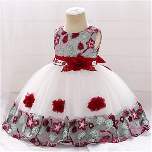 burgundy baby flower girl dress