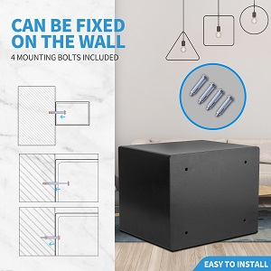 the safe can be fixde on the wall