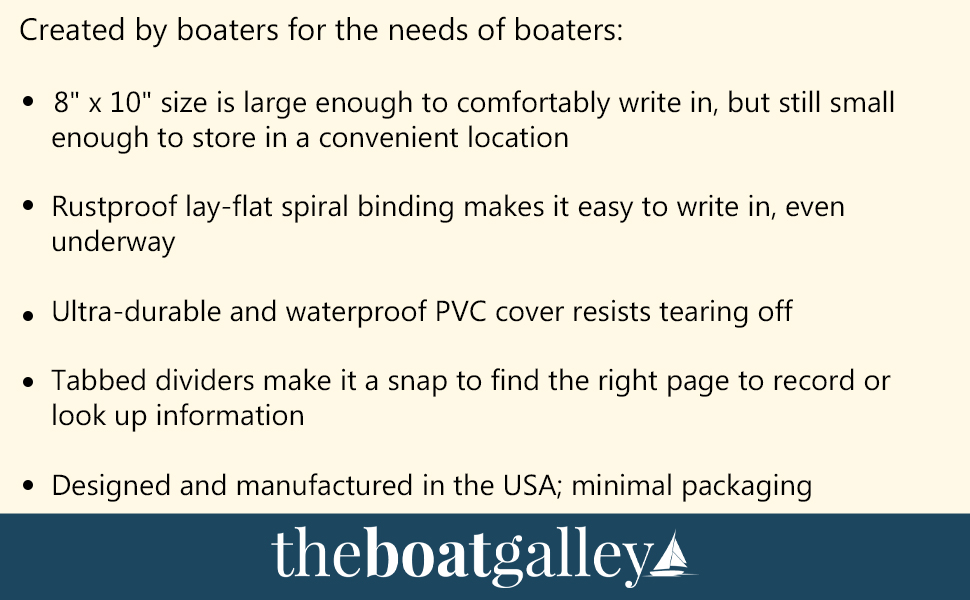 created boaters size lay-flat spiral binding waterproof cover USA packaging