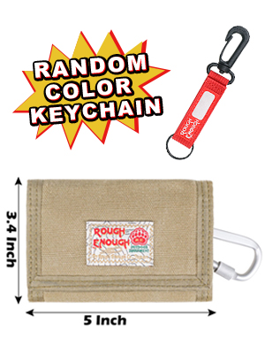rough enough keychain card wallet for boys kids men son with carabiner clip as christmas gifts
