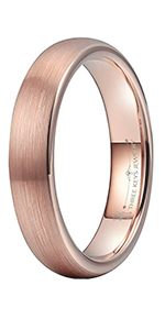2mm 4mm 6mm 8mm Tungsten Brushed Ring