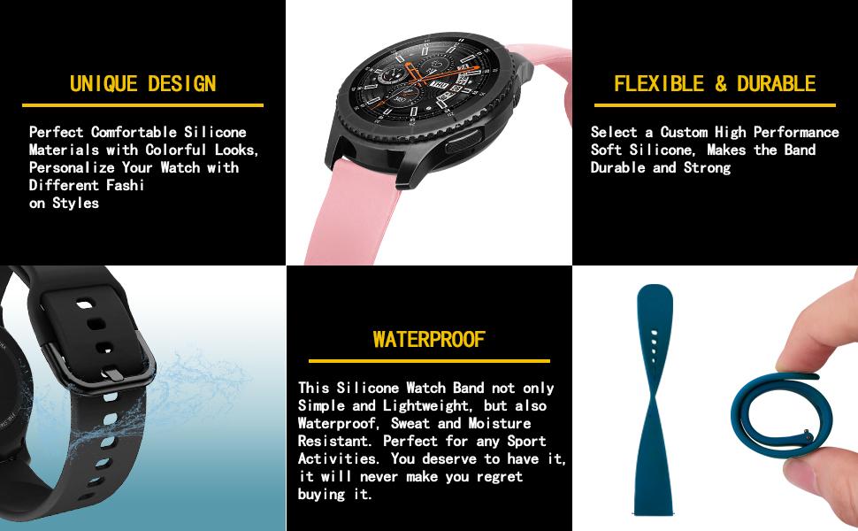 Bracelet compatible avec Samsung Galaxy Watch 3 45 mm.