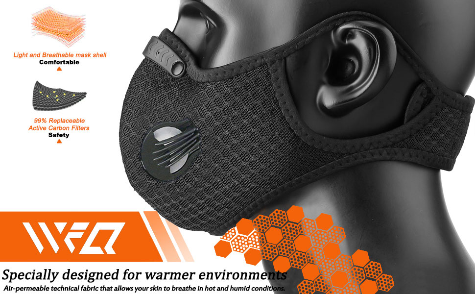 Sport Riding Bicycle Mask Reusable Activated Carbon Dustproof