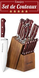 set de couteaux de cuisine professionnels