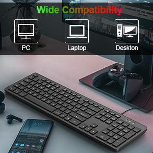 Backlit RGB PC Keyboard Gaming