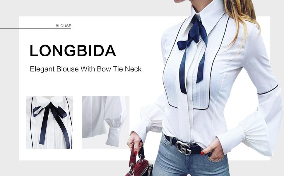 women bow tie blouse white blouse women tie neck white long sleeve blouses womens blouses tops work