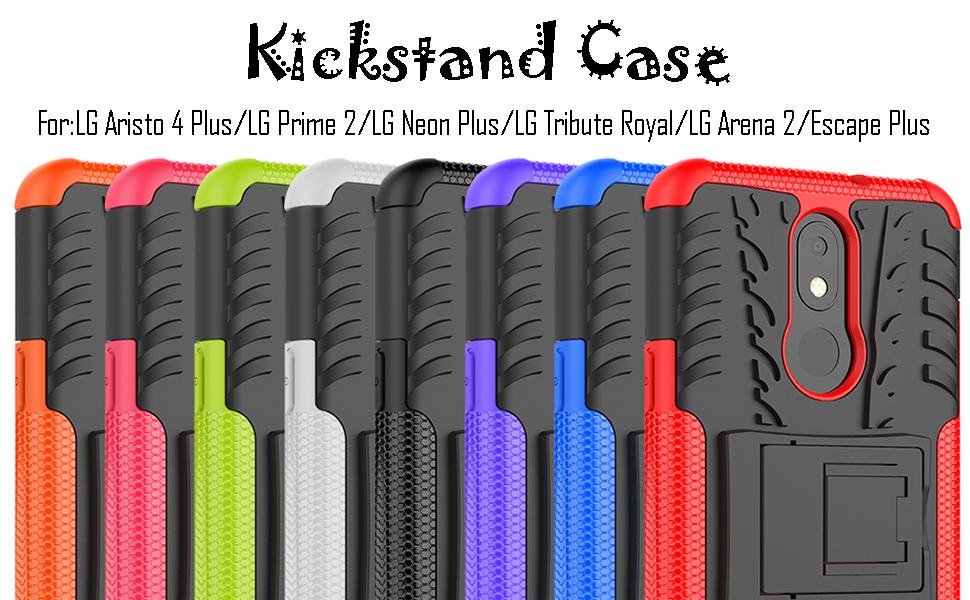 LG Aristo 4 Plus/LG Prime 2/LG Neon Plus/LG Tribute Royal/LG Arena 2/Escape Plus Kickstand case