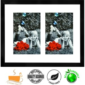 """dual 5x7"""" picture frame for two folding double twin indoor wall hanging hang family tiles mix"""