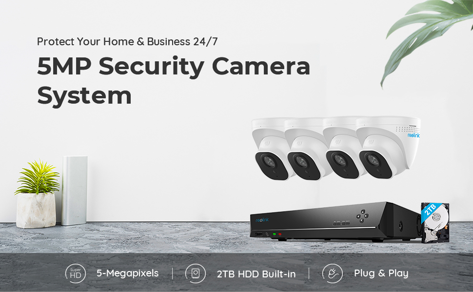 8ch 5mp reolink security camera system