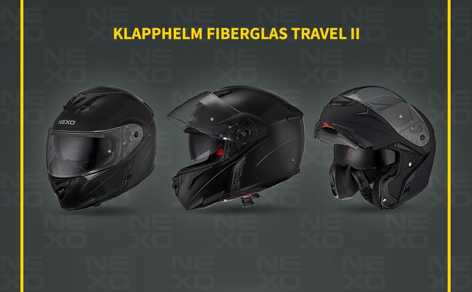 Nexo Flip Up Motorcycle Helmet Full Visor Helmet Fibreglass Travel Ii Unisex Tourer All Year Xl Bekleidung