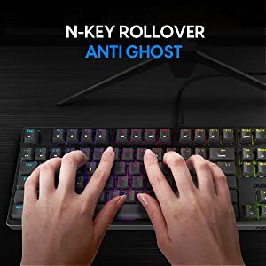 NOVA Optical PRO mechanical gaming keyboard with N-key rollover