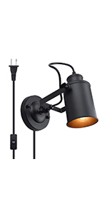 Bonlux Black Wall Light Plug in