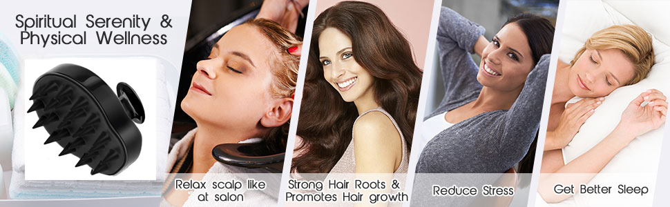Hair scalp massager brush