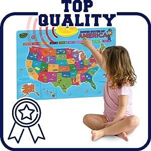 talking usa map