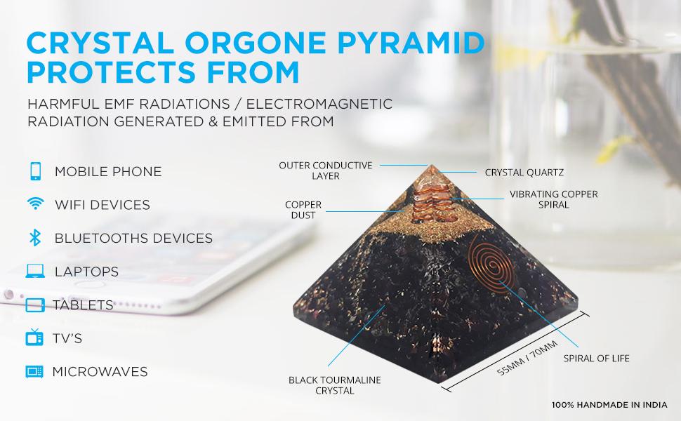 pyramid orgone pyramids orgonite emf protection energy generator crystal healing money wealth