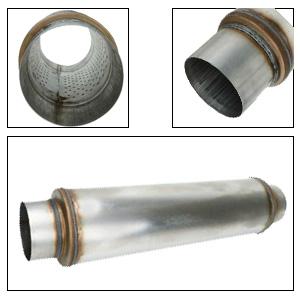 """5"""" Inlet 5"""" Outlet High Performance Muffler Exhaust-Resonator 30"""" inch Overal"""