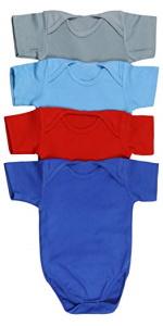 baby's short sleeve bodysuit onesies