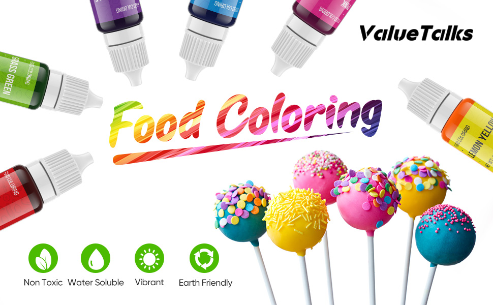 cake food coloring, Vibrant Colors, food coloring for kids, Icing Colors for icing/baking/candy
