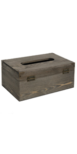 Distressed Wooden Rustic Tissue Box Holder
