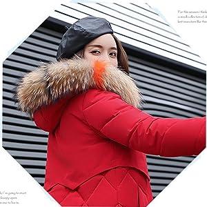 Down Coat Facial Fur Hood