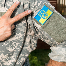 veteran business war ukrainian military service uniform flag