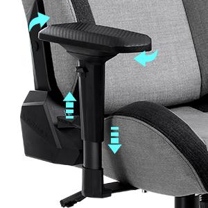 Multi-adjustable 4D armrests
