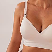 Sewn-in foam cups and wire-free support