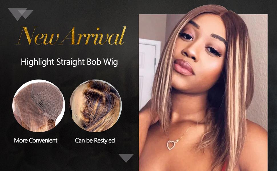 highlight straight wig