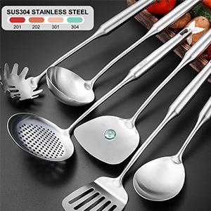 spatula set stainless steel