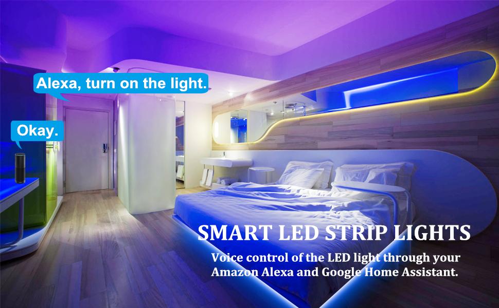 Led Strip Lights Solmore Wifi Led Light Strip 10m 32 8ft Music Sync Rgb 5050 Led Tape Lights Rgb Light Strips Waterproof Color Changing Flexible Strip