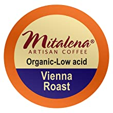 organic coffee, low acid, low-acid, arabica, vienna roast, single serve, coffee pods, brew cups