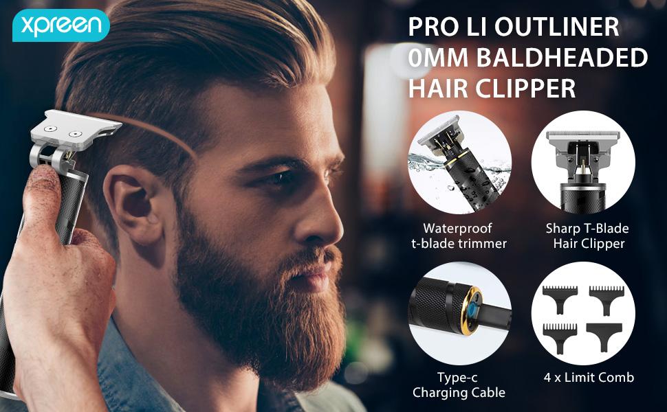 Electric Pro Li Outliner Grooming t-blade trimmer for men
