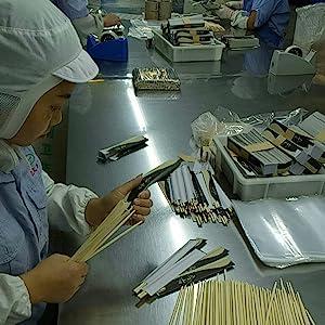Color de Madera Hex/ágono CamKpell 1 par de Palillos japoneses Aleaci/ón Antideslizante Color de Madera Sushi Chop Sticks Set Regalo Chino Familia Amigos Colegas Regalos