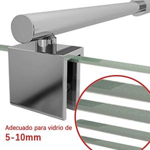 SIRHONA Barra Telescópica de 700-1200mm Barra para Mampara de Ducha (25 mm, Compatible con Cristal de 5 mm a 10 mm) Brazo de Apoyo de Acero Inoxidable, Cromo Pulido: Amazon.es: Bricolaje y herramientas