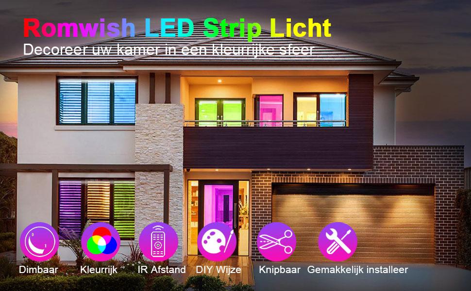 Romwish LED Strip Licht