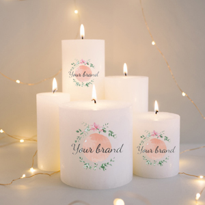 water slide decal for candle