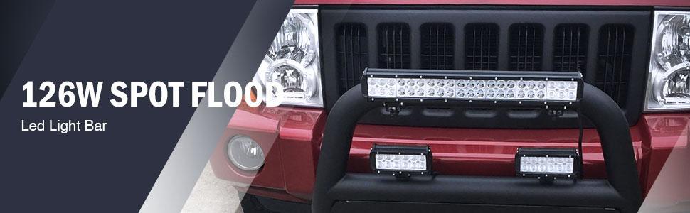 Nilight 20 Zoll Arbeitsscheinwerfer 126w Zusatzscheinwerfer Led Light Bar Auto Scheinwerfer Offroad Flutlicht Spotlight Wasserdicht Ip67 2 Jahre Garantie Auto