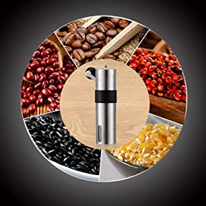 Manual Coffee Grinder Hand Coffee Bean Grinder Conical Burr Mill Stainless Steel Coffee Grinder