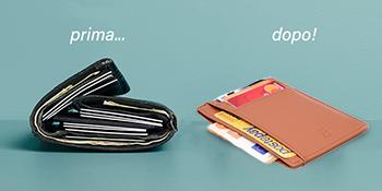 porta carte credito slim bronzi bethechange nucci uomo piccolo sottile porta tessere rfid schermato